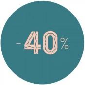 - 40 %