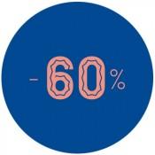 - 60%