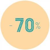 - 70%